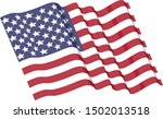 high resolution american flag... | Shutterstock . vector #1502013518