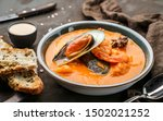 tomato gazpacho soup with... | Shutterstock . vector #1502021252