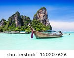 longtale boats at the beautiful ... | Shutterstock . vector #150207626