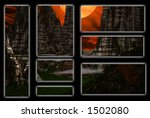 alien city banners | Shutterstock . vector #1502080