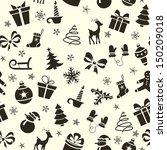 vintage christmas seamless... | Shutterstock .eps vector #150209018