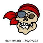 pirate skull   vector cartoon... | Shutterstock .eps vector #150209372