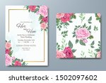 wedding invitation card with... | Shutterstock .eps vector #1502097602