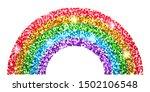 rainbow glitter. cute print for ... | Shutterstock .eps vector #1502106548