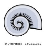 cartoon circular sea shell... | Shutterstock .eps vector #150211382