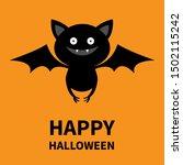 happy halloween. cute bat...   Shutterstock .eps vector #1502115242