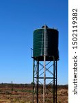 Water Storage Tank With Blue...