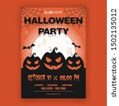 halloween party invitation with ... | Shutterstock .eps vector #1502135012