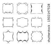 decorative monograms and... | Shutterstock . vector #1502147528