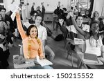 diverse group of cheerful... | Shutterstock . vector #150215552