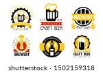 brewery craft beer retro labels ... | Shutterstock .eps vector #1502159318