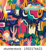 abstract colorful tropical... | Shutterstock .eps vector #1502176622