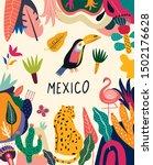 mexican design. vector mexican... | Shutterstock .eps vector #1502176628