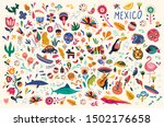 mexican decorative vector... | Shutterstock .eps vector #1502176658