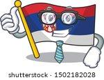 businessman serbia flag flown... | Shutterstock .eps vector #1502182028