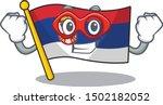 super hero serbia flag flown on ... | Shutterstock .eps vector #1502182052