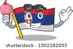 with ice cream serbia flag... | Shutterstock .eps vector #1502182055