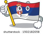 thumbs up serbia flag flown on... | Shutterstock .eps vector #1502182058