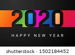 happy new year 2020 cover.... | Shutterstock .eps vector #1502184452