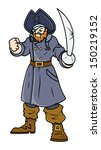angry pirates captain   vector... | Shutterstock .eps vector #150219152