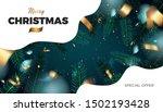 merry christmas red background  ... | Shutterstock .eps vector #1502193428