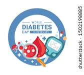world diabetes day banner with... | Shutterstock .eps vector #1502198885