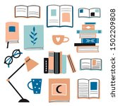 collection with books and... | Shutterstock .eps vector #1502209808