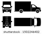 box van silhouette on white...   Shutterstock .eps vector #1502246402