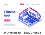 fitness app isometric landing...