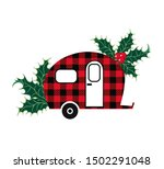 buffalo plaid christmas ... | Shutterstock .eps vector #1502291048