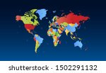 color world map vector modern | Shutterstock .eps vector #1502291132