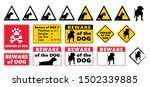 beware of the dog vector icon... | Shutterstock .eps vector #1502339885