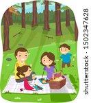 illustration of stickman family ... | Shutterstock .eps vector #1502347628