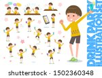 a set of boy related to alcohol.... | Shutterstock .eps vector #1502360348