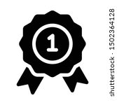 award badge icon in solid... | Shutterstock .eps vector #1502364128