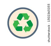 recycle sign symbol. flat... | Shutterstock .eps vector #1502365355