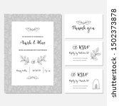 christmas wedding invitation or ... | Shutterstock .eps vector #1502373878