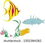Fish Animal Colorful Vector...