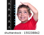 measured child on white... | Shutterstock . vector #150238862