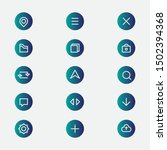 apps icons. set of minimalis...