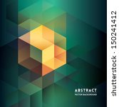 abstract isometric shape... | Shutterstock .eps vector #150241412