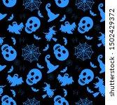 abstract seamless halloween... | Shutterstock .eps vector #1502429372
