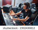 Sound Engineer In Headphones...