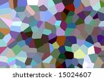 A random mosaic pattern of different colored shapes. - stock photo