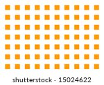 A series of orange squares arranged in a grid pattern - stock photo