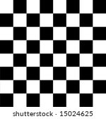 Black and white checkerboard pattern - stock photo