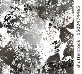 grunge dry paint surface.... | Shutterstock .eps vector #1502474465