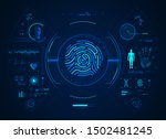 concept of biometrics... | Shutterstock .eps vector #1502481245