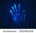 concept of cyber identification ... | Shutterstock .eps vector #1502483558