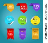 promotion price labels   vector | Shutterstock .eps vector #1502493302
